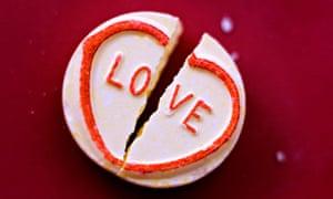 Broken love heart