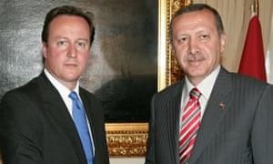 David Cameron and Recep Tayyip Erdogan