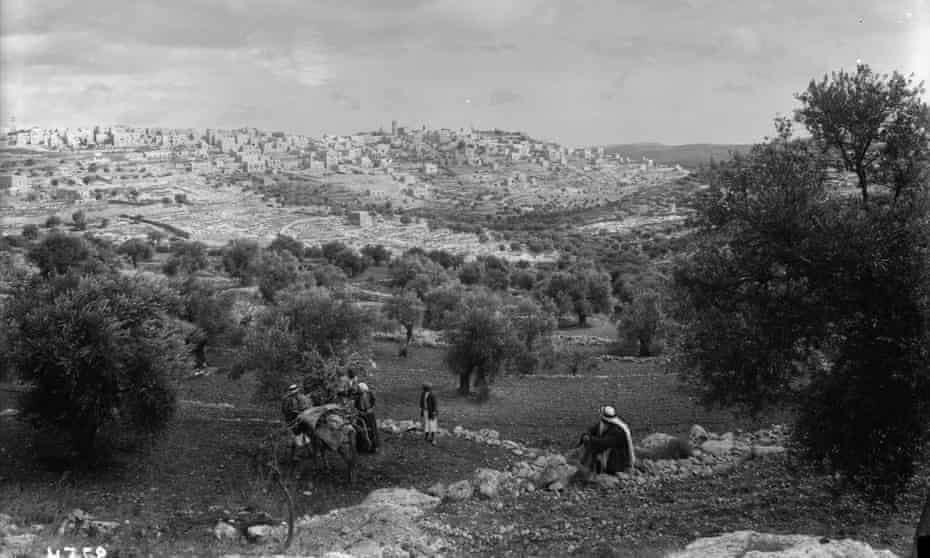Palestine: 'a hamlet surrounded by olives and vineyards'.