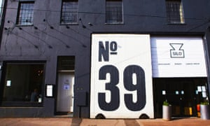Exterior of Silo in Brighton with huge 'No 39' sign