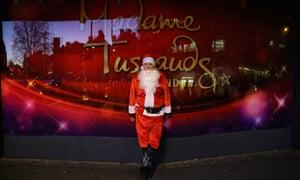Stephen Moss in his velvety Santa suit