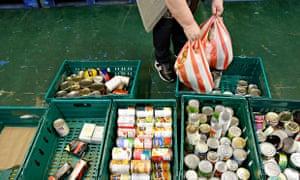 Food bank customer in Scotland