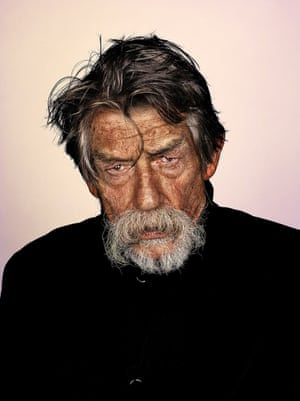 'It's not the beard, it's the person wearing the beard': Brock Elbank took shots of a wide array of people, including John Hurt.