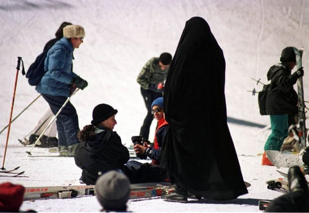 Iran's Dizin ski resort in March 2002.
