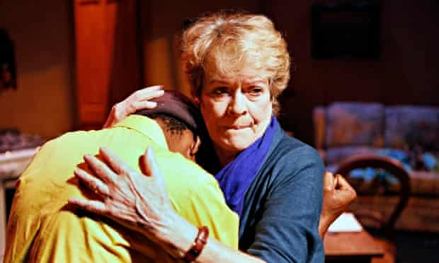 Janet Suzman with Khayalethu Anthony in the South African play Solomon and Marion in 2013.