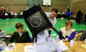 A ballot box being opened on election day. A British Election Study conference is taking place in Westminster this afternoon