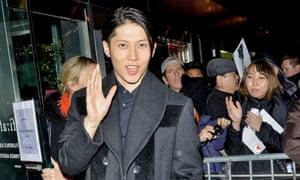 Miyavi, the star of Unbroken, at the film's New York premiere.