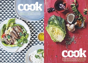 A Cambodian beef lok lak, from our 10 best peppery recipes (4 October 2014) and the ingredients for a Keralan cabbage thoran with coconut and chilli – 10 best cabbage dishes (8 February 2014)