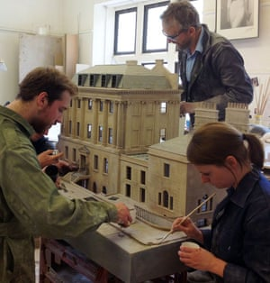 model house being made