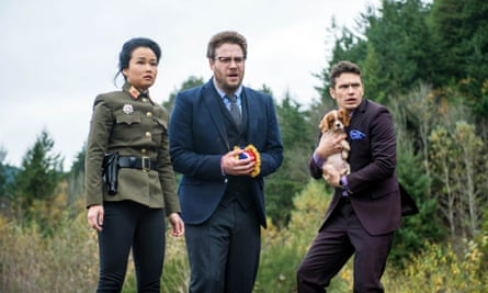 Diana Bang, Seth Rogen and James Franco in a scene from the Sony Pictures film The Interview.