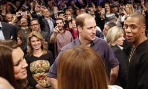Prince William and Jay-Z, and Kate and Beyoncé have a chinwag.