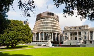 The New Zealand parliament buildings in Wellington.
