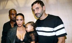 Kim Kardashian, Kanye West and Riccardo Tisci