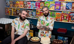 Gary (left) and Alan Keery at their Cereal Killer cafe in Brick Lane, London.