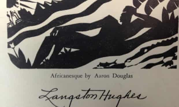 Card by Langston Hughes with Africanesque by Aaron Douglas