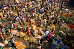 In bloom … a flower market in Kolkata, India