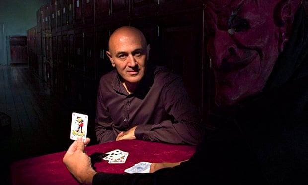 Cards with the devil … Jim Al-Khalili in The Secrets of Quantum Physics. Photograph: Andy Jackson/Fu