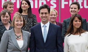 Harriet Harman with Ed Miliband