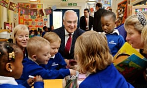 Sir Michael Wilshaw, head of Ofsted, on visit to nursery