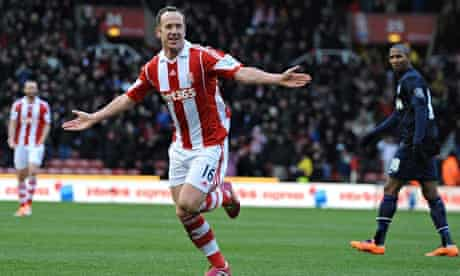 Stoke City's Charlie Adam scored against Manchester United in the Premier League at the Britannia
