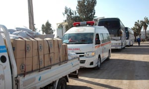 Aid convoy in Homs