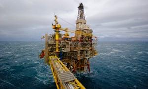Statoil offshore gas platform, Oseberg oil field 140kms from Bergen, Norway.