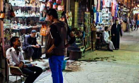 Empty tourist bazaar in Luxor
