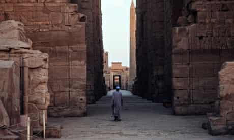 Empty Karnak temple in Luxor