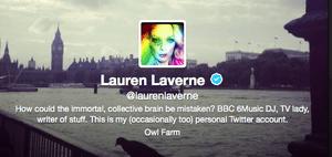 Lauren laverne's twitter bio
