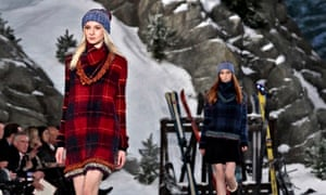 187e7150 Hilfiger's collection was a good-natured mash-up of cold-weather style  references from Seattle to Switzerland. Photograph: Bebeto Matthews/AP