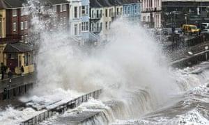 Waves Dawlish on 5 February 2014.