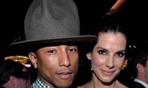 Oscar nominees lunch: Pharrell Williams and Sandra Bullock