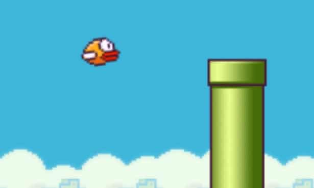 Flappy Bird mobile game pipe