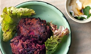 Chickpea and beetroot patties