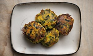 Spinach and potato fritters