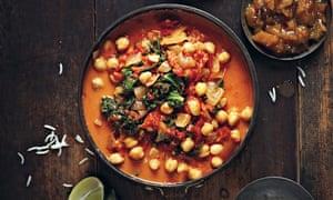 Coconut Chana Saag vegan recipe