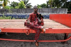 FTA: La Sape: A Sapeur, a member of La Sape movement, in Kinshasa