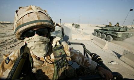 British troops on patrol in Iraq
