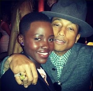 Lupita Nyong'o and Pharrell Williams