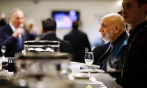 Hamid Karzai at the Winter Olympics opening ceremony in Sochi.