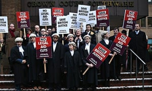 Barristers protest legal aid