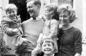Tony Benn in pictures: With his family in 1961. Left to right: Joshua, 2, Melissa, 4, Hillary, 7,