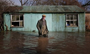 Nigel Farage Visits The Somerset Levels And Victims Of The Floods