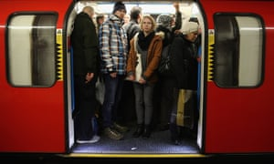 Those who travel to work by tube were found to only be negatively affected by journeys over 30 minutes. Photograph: Dan Kitwood/Getty Images