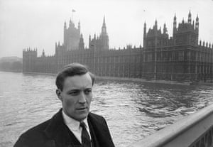 Tony Benn in pictures: Tony Benn, outside the Houses of Parliament in March 1961
