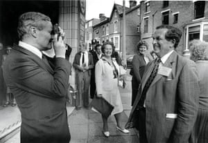 Tony Benn in pictures: Photographing Denis Healey during the Labour Party Conference in 1981