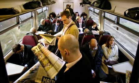 Commuters on an overcrowded train