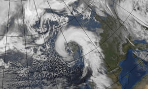A satellite image issued by the Met Office