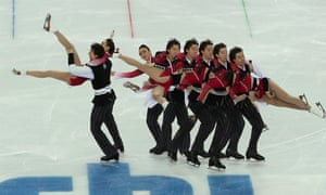 Cathy Reed and Chris Reed of Japan performing in the Ice Dance Free Dance of the Figure Skating team event.