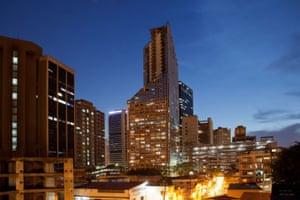 Torre David Caracas: The 45-storey office block was designed by the  Venezuelan architect Enriqu